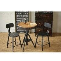 Древний Утюг металлическая мебель, барная стойка/стул, 100% дерево подъемный стол, открытый наборы мебели, сельский бар наборы мебели, 1 + 2