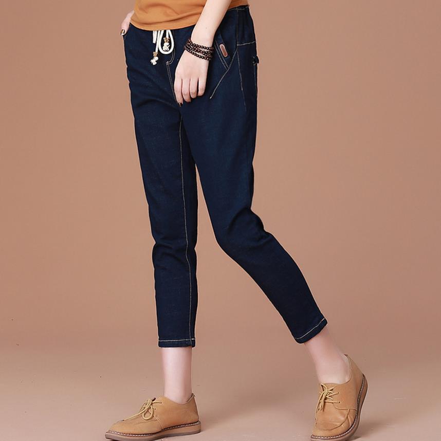 new loose   jeans   pants elastic waist feet Harlan pants women harem pants