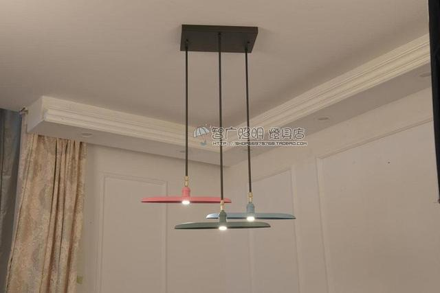 Modern Concise Personality WROUGHT IRON Colour pendant light Restaurant living dining room hanging light