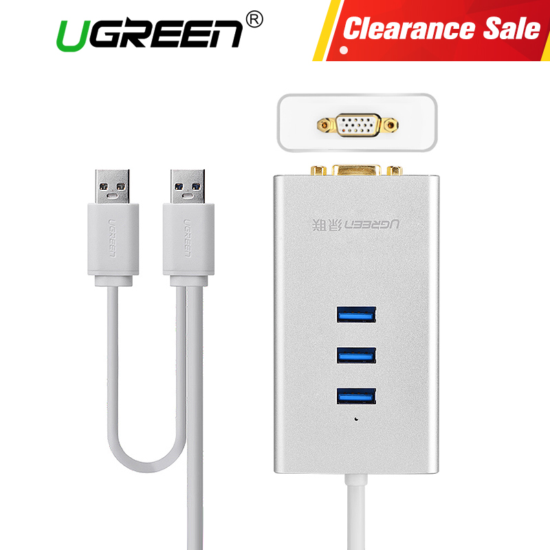 Ugreen USB 3.0 HUB to HDMI VGA Video Adapter USB Splitter External USB to HDMI Cable Converter for Computer Hubs Usb HDMI ugreen multi all in 1 usb 3 0 to hdmi dvi vga video