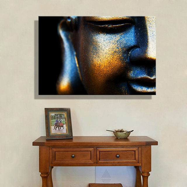 Oil Painting Canvas Copper Buddha Wall Art Decoration Painting ...