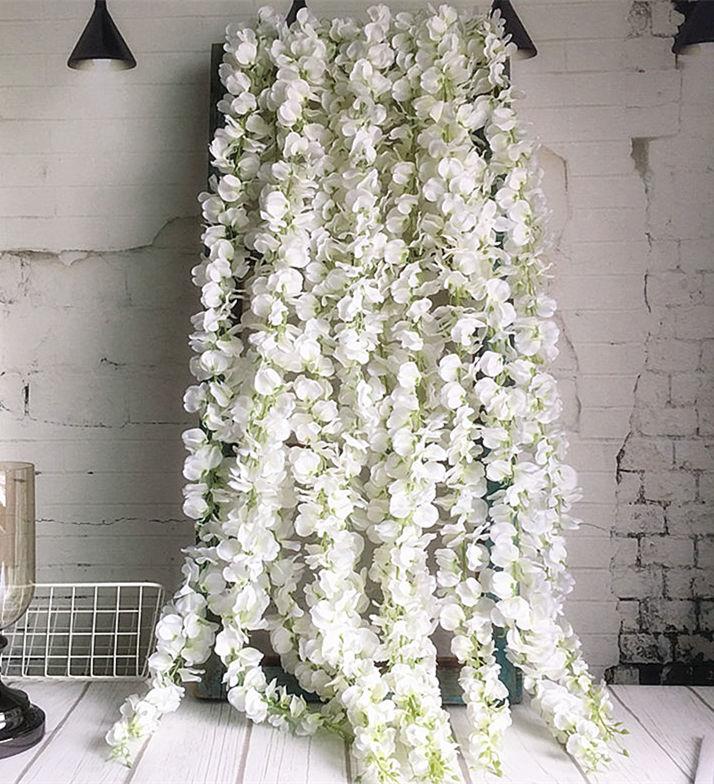 Artificial Silk Leaf Vine Garland Spool 10 mtrs Green