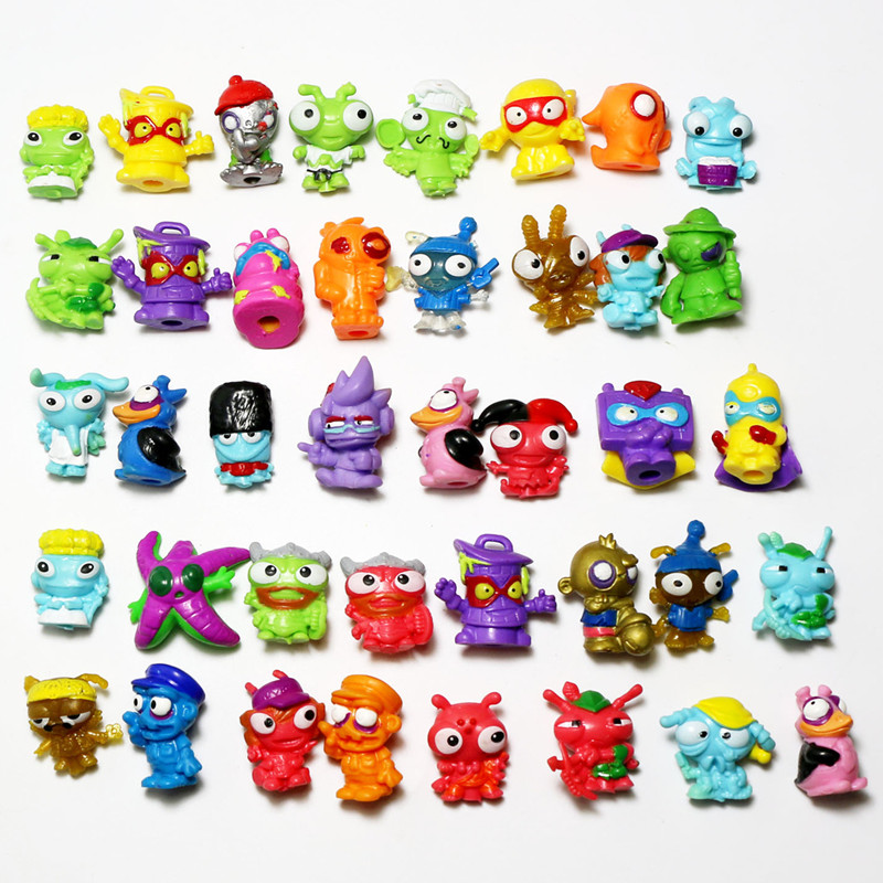 10-500pcs Zomlings Super Zings Anime Trash Action Figures Dolls 3CM SuperZings  Garbage Doll Model Toy For Kids Playing Gift