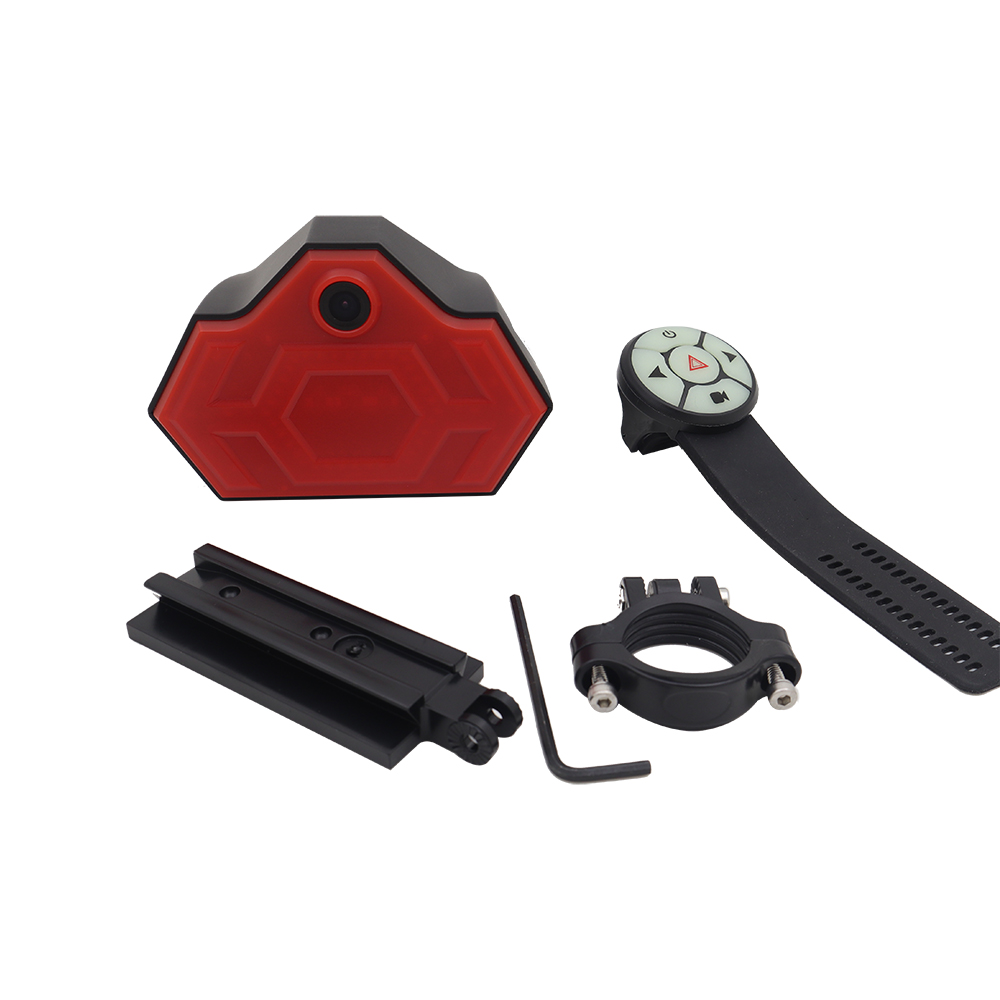 Bicycle tail Bike DVR recorder bicycle camera with GPS Trajectory wifi Steering warning light