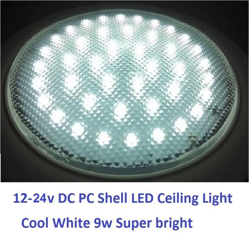 12 V-24 V DC 220 MM Soğuk Beyaz LED Dome Işık PC Kabuk Tavan - Araba Farları - Fotoğraf 2