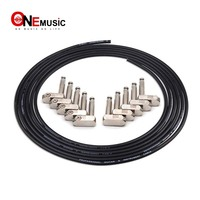 DIY Guitar Pedal Patch Cable Solder free Pedal Board Copper Cable Kit Set 10ft Angle Audio 6.35 Plugs For Effect Pedal