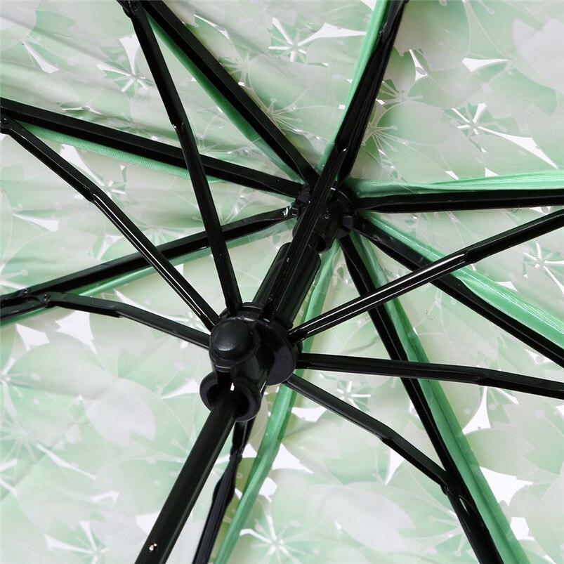 4 Colors Transparent Women Umbrella 2018 Clear Rain Umbrella Cherry Blossom Mushroom Apollo Sakura 3 Fold Umbrella #FG29 (17)