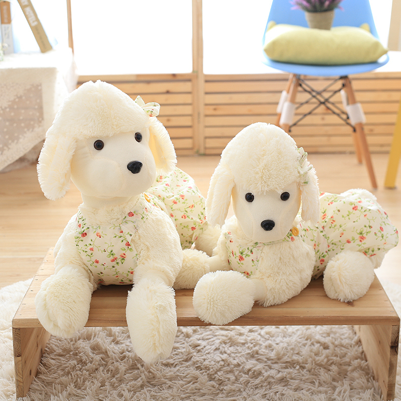 90cm Best Quality Plush Poodle Dogs Pugs Stuffed & Plush Animals Soft Poodle Plush Stuffed Toy 25cm soft toy poodle pillow cartoon cute poodle dog plush toy fabric stitch stuffed plush dog animal toys for children gifts