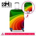 Colorful Striped Stretch Elastic Travel Luggage Protective Cover For 18-30 Inch Trolley Case Dust Suitcase Cover Maleta Viaje