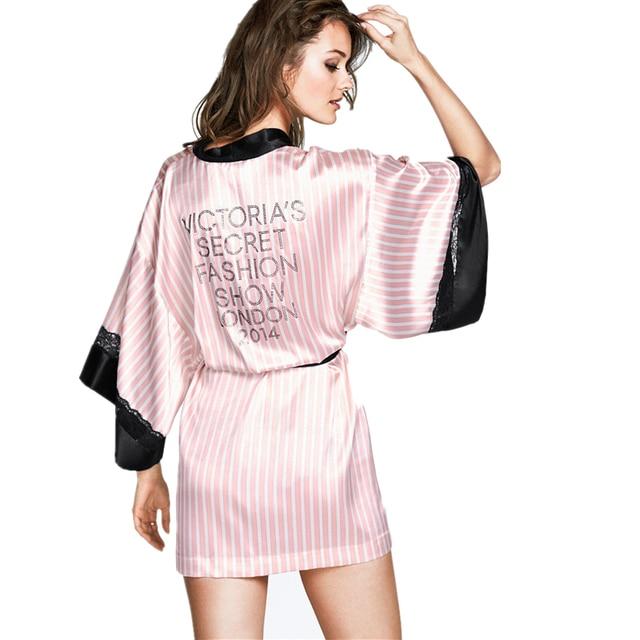 2015 Pink Short Silk Kimono Robe Satin Kimono Robes for Women Silk ...