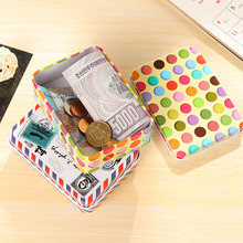 Mini Cute Kawaii  Cartoon Tin Metal Box Case Home Storage Organizer For Jewelry Kids Toy