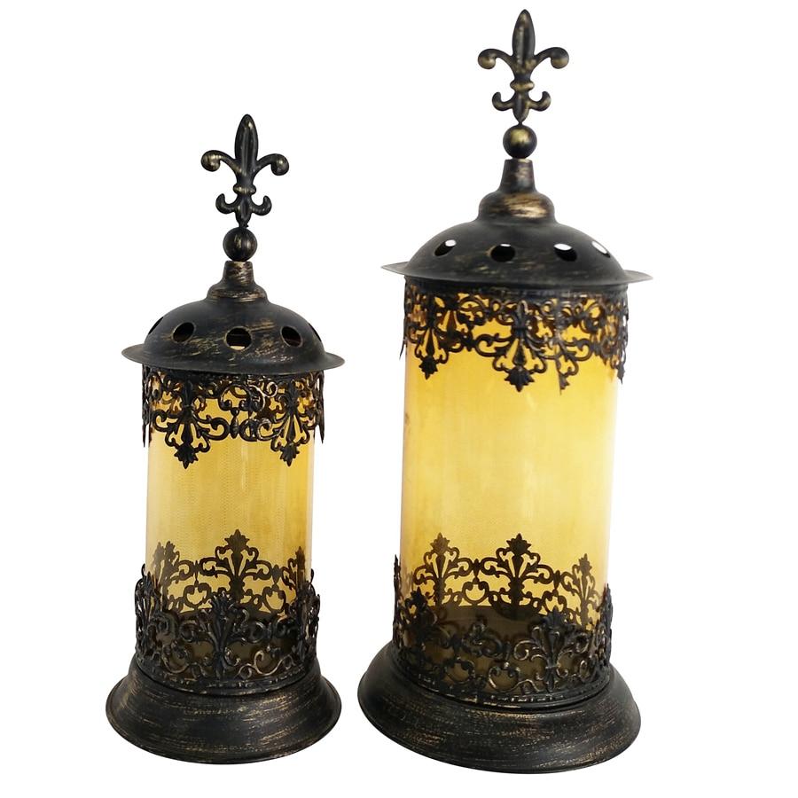 Glass Candle Holder Candlestick Holder Antique Brass Iron ...