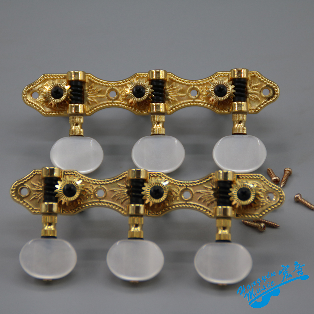 Clothing, Shoes & Accessories Cooperative 2 Pcs Per Set High End Classical Guitar Tuning Pegs Machine Heads Chrome Color