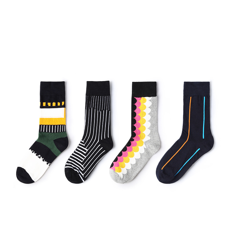 2019 New Spring Woman   Socks   1 Pair Long Cotton Women Fashion Unisex Happy   Socks   High Quality Man   Socks