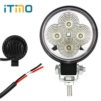 12W Round LED Work Lights Waterproof Spot Flood Light Beam DC 12V Worklight For Offroad Construction