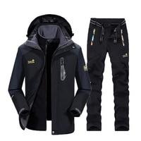 Маутейн Для мужчин Лыжный Спорт Лыжная одежда Водонепроницаемый Пеший Туризм куртка сноуборд куртка лыжный костюм Для мужчин большой Разм