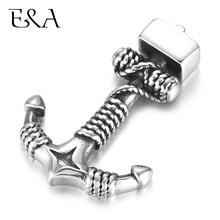 Stainless Steel Anchor Hooks Double Hole 5mm Bracelet Clasp for Jewelry Making Findings DIY Supplies Accessories Wholesale