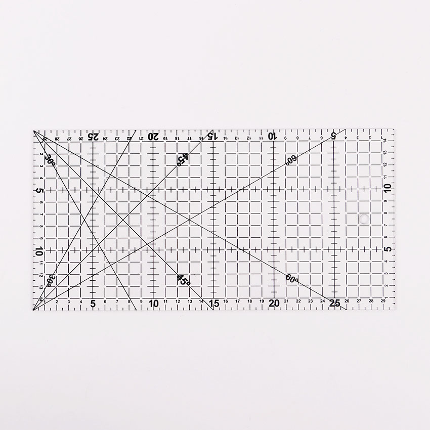 Patch Ruler Cutting Rule Rule Drawing Tools Ruler 30x15cm1 PC Transparent Quilting Acrylic Patchwork Aligned Ruler Grid Cutting