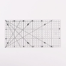 Patch ruler cutting rule Rule Drawing Tools Ruler 30x15cm1 PC Transparent Quilting Acrylic Patchwork Aligned Grid Cutting