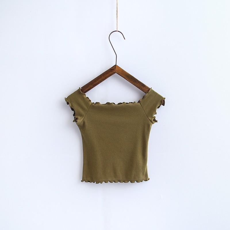 HTB1qTyAOVXXXXX3XpXXq6xXFXXXz - Striped Knitted Off Shoulder Slash Neck Short Sleeve T Shirt PTC 27