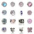 Nova Moda Jóias de Prata Banhado Bonito Mickey Minnie Bijoux Perles Beads Fit Diy Pandora Encantos Pulseira de presente Por Atacado