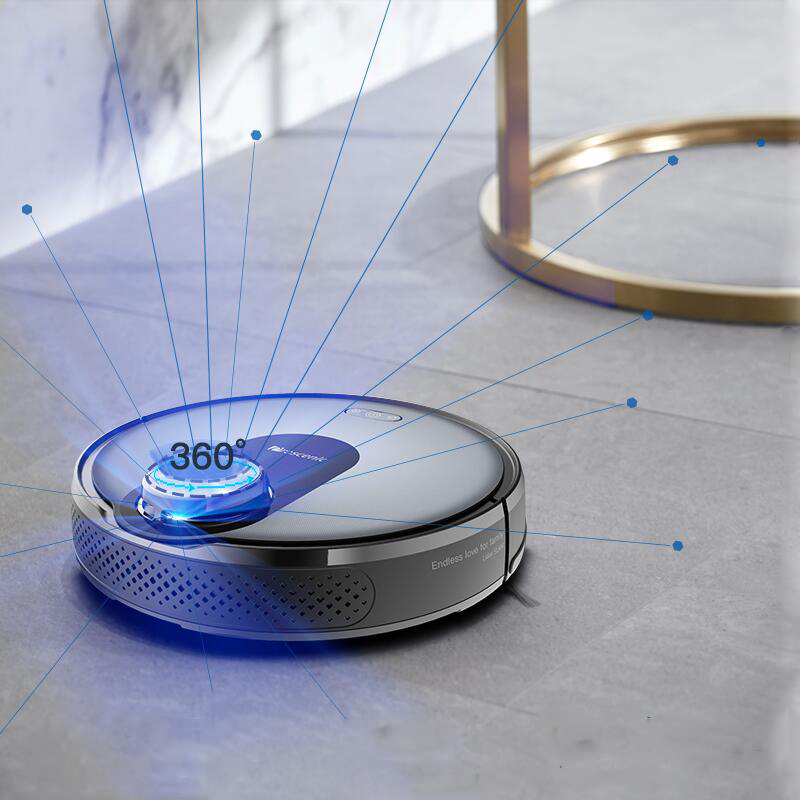 Robot Vacuum Cleaner Aspirador Smart Fully Automatic Wipe Two In One Laser Cruise App Control 2150pa Strong Resistance To Heat And Hard Wearing Household Appliances