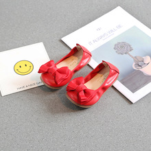 hot deal buy 2018 new sweet girls shoes kids princess shoes big bowknot baby leather shoes sapato infantil menina girls dress shoes 21-35#
