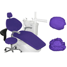 Dental PU Leather Unit Dental Chair Seat Cover Chair Cover Elastic Waterproof Protective Case Protector Dentist Equipment 1 Set