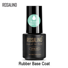 ROSALIND 7ml Base Coat Gel Nail Polish Transparent Soak off Nail Primer UV LED Lamp Semi Permanent Gel Varnish For Nail Art(China)