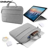 UNIDOPRO Multifunction Laptop Sleeve Handbag For Microsoft Surface Pro 3 I3 I5 I7 Pro 4 Mallette