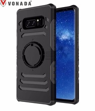 Vonada New Arrival Shockproof Heavy Duty Armor Car Holder Cover Case for Samsung Galaxy Note 8