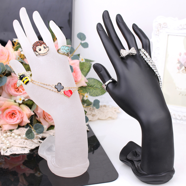 Hand display shelf ring holder bracelet shows rack fashion bangle frame stand for fashion jewelrys necklace resin hands hold