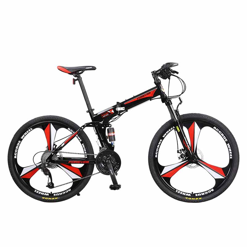 26 Inches Mountain Bike Bicycle Folding Adult Male 27 Speed Off-road Double Shock Absorption Soft Tail