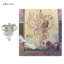 JCarter Butterfly Angel Background Metal Cutting Dies for Scrapbooking DIY Album Embossing Folder Paper Photo Template Stencil