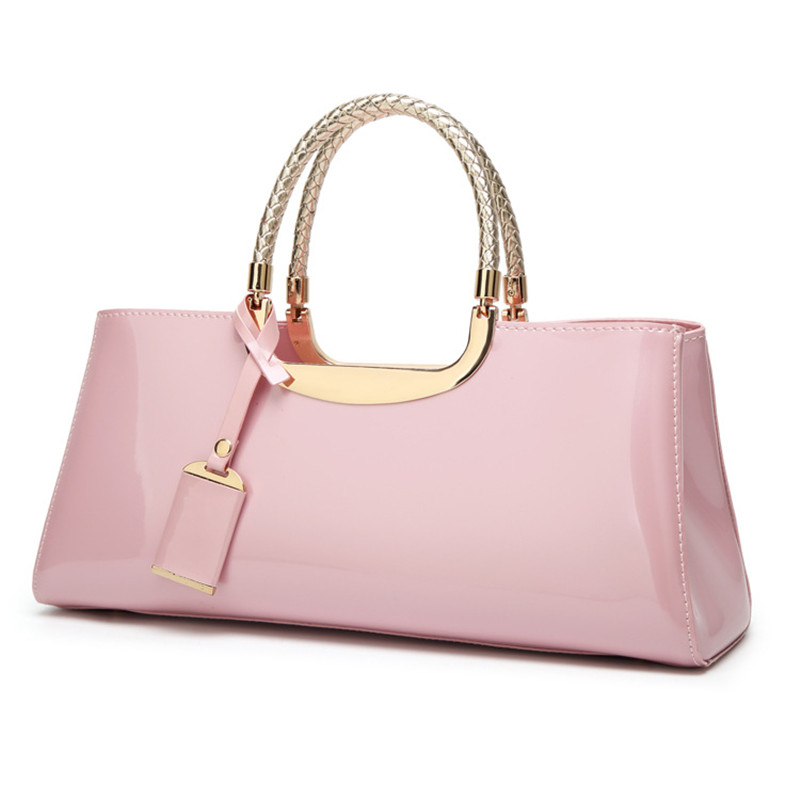 New Fashion Women Bag Patent Leather Shoulder Handbag Luxury Designer Ladies Messenger Bag Famous Brands Lacquered Bag Sac A0362 new fashion women girl student fresh patent leather messenger satchel crossbody shoulder bag handbag floral cover soft specail