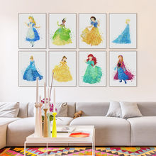 Modern Princess Cinderella Snow Cartoon Pop Movie Canvas Poster Print Wall Art Girl Kids Room Decor Painting No Frame(China)