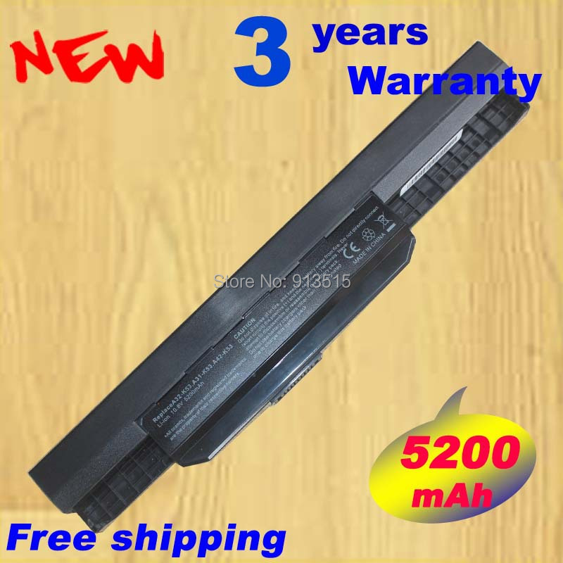 Replacement battery for ASUS K53 K53B K53BR K53BY K53E K53S K53SC K53T K53TA K53TK K53U K53Z Free Shipping