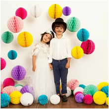 6pcs 8'' 20cm Mutliple color Paper Honeycomb For Festival Party Wedding Room Decoration Showcase Decoration DIY
