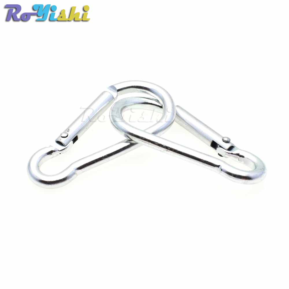Image 5 - 10pcs/pack Aluminum Carabiner Snap Hook Keychain For Paracord Outdoor Activities Hiking Camping 10 Colors-in Buckles & Hooks from Home & Garden