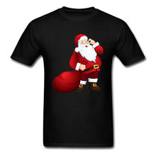 Lasting Charm Santa Claus Men Sports T-shirt High Quality Christmas Gift Tops & Tees Design(China)