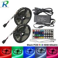10M Full Set Black PCB LED Strip Super Bright 60leds M SMD5050 Led Strips Light Flexible