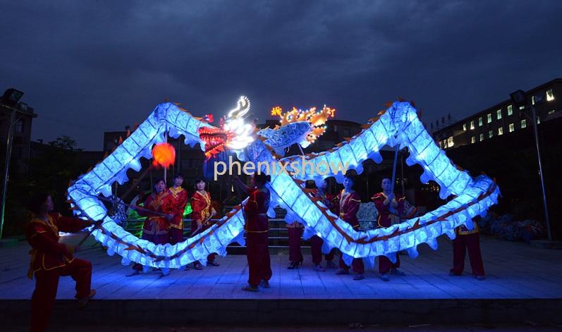 7.9M červené děti velikosti LED světlaCHINESE DRAGON DANCE - Kostýmy