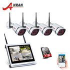 NEW P2P 960P 4CH WIFI NVR Kit 12 Inch LCD Monitor 36 IR Surveillance Security 1.3MP Wireless IP Camera System Hard Disk