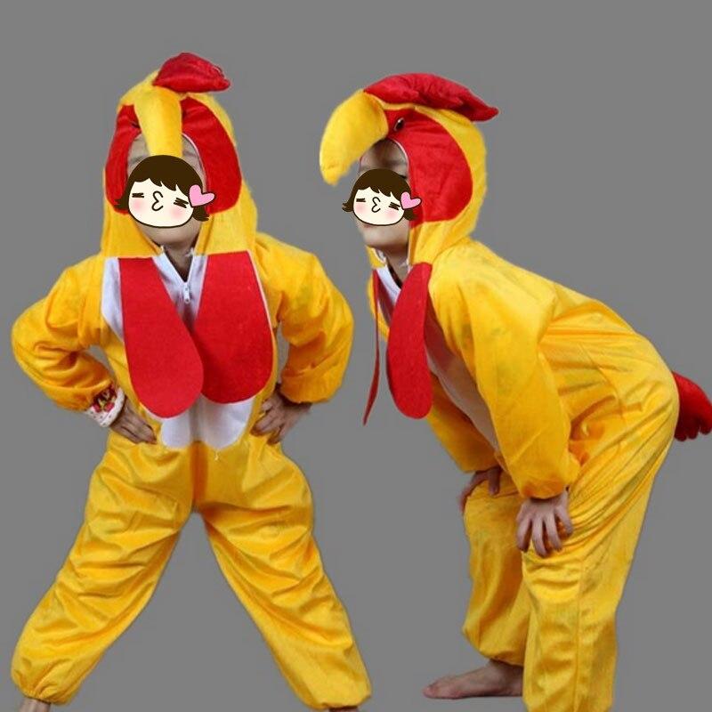 Children Yellow Big Cock Cartoon Animal Costume For Boys