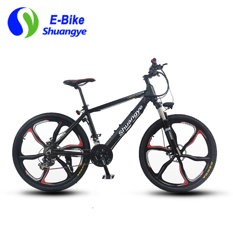 Free Shipping 36v 350w Durable Mountain Electric Bike with Magnesium Wheel