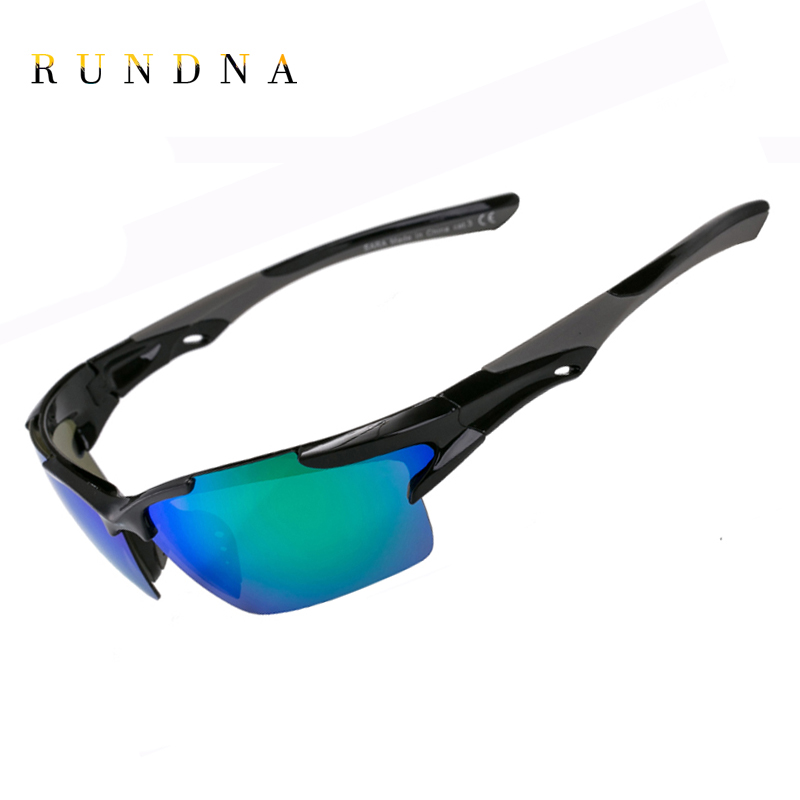 RUNDNA Polarized Cycling SunGlasses Riding Bicycle Bike Goggles Golf Fishing Coating Mirrored Outdoor Sports Sunglasses C05GRN