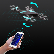 2.4G Foldable WiFi Pocket Drone with Rotatable HD Camera Altitude hold Headless Mode Gravity Sensor Phone Control RC Airplane