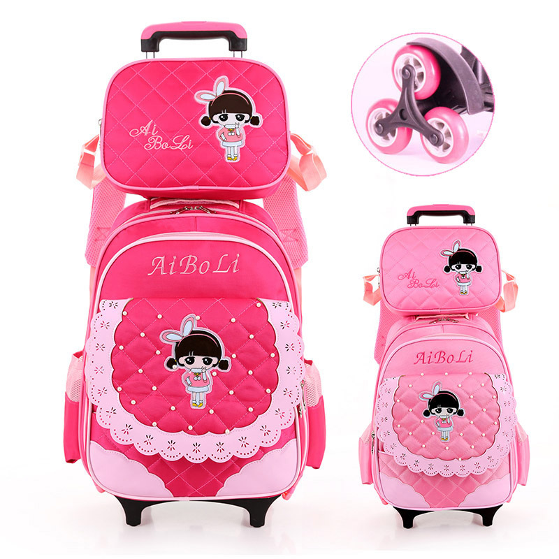 2018 Latest Removable Children School Bags With 3 Wheels Stairs Kids girls Trolley Schoolbag Luggage Book Bags Wheeled Backpack latest removable children school bags with 3 wheels stairs kids boys girls trolley schoolbag luggage book bags wheeled backpack