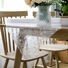 Table cloth waterproof oil-proof PVC Soft glass tablecloth Anti-hot Placemat Imitation stone pattern creative coffee table mat
