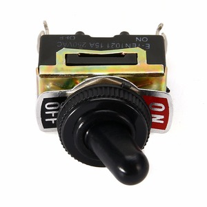 Image 4 - Miniature On Off Small SPST Toggle Switch Heavy Duty with Waterproof Cover 12V 6 A/250 VAC 10 A/125VAC
